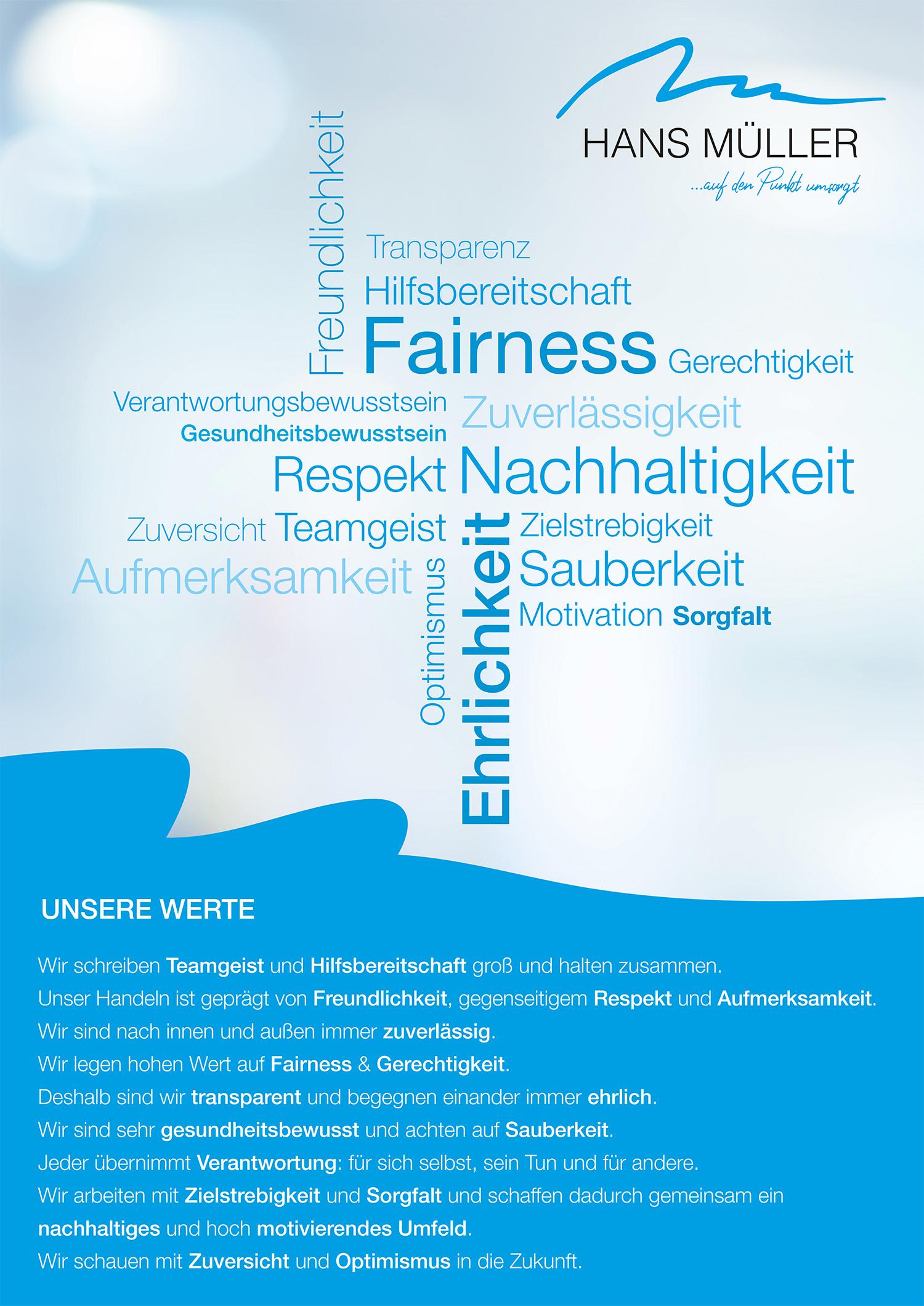Hans Müller HMP | Unternehmenswerte
